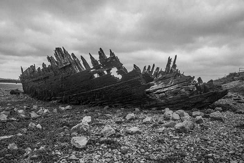 Shipwreck, Swale Estuary, Kent (photo from series on Kent coast)