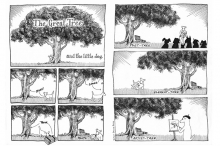 The Great Tree and the little dog (cartoon)