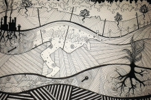 Pen & Ink illustration ('Soil' exhibition)