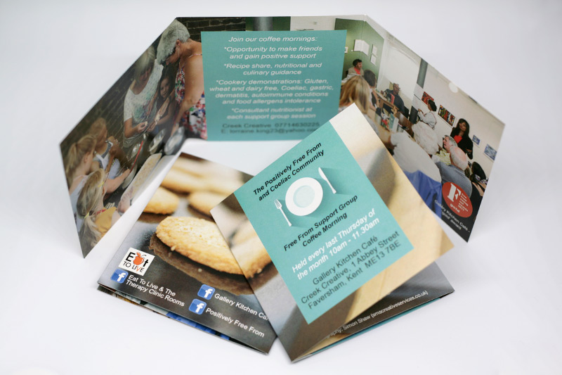 Positively Free From promotional leaflet