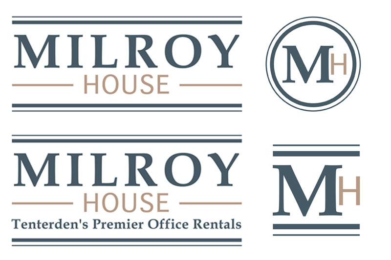 Milroy House logos (print and website)