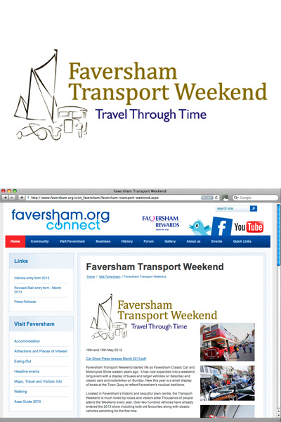 Faversham Transport Weekend event (logo)