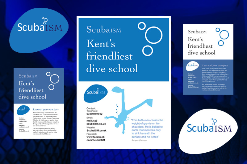 ScubaISM (logo, flyers and poster)