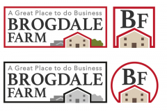 Brogdale Farm logos (print and website)