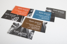 Kate Garcia, artist (business cards)