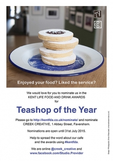Kent Teashop of the Year poster