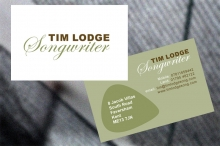 Tim Lodge, songwriter (logo/business card)