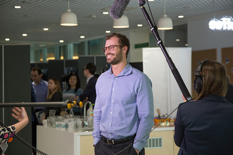 Corporate event video interview