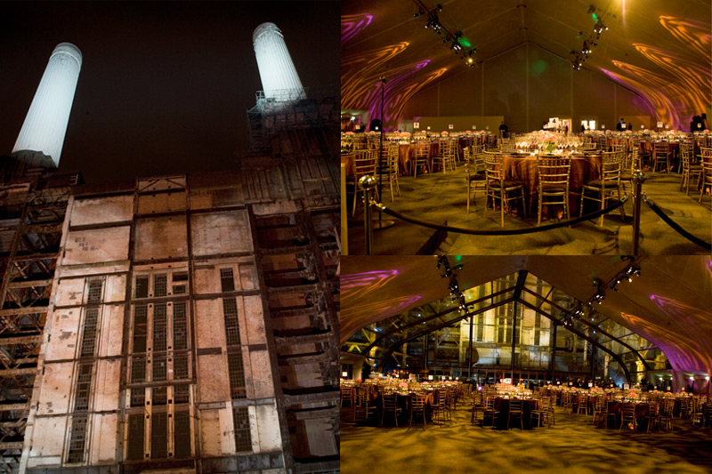 Event set up - Battersea Power Station