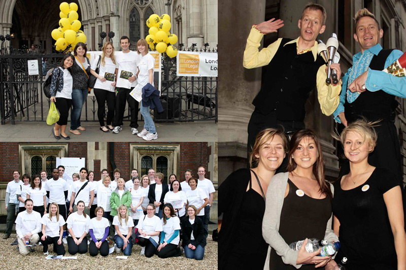 Legal sponsored charity walk team photos