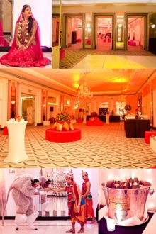 Event set up - Claridge's Hotel Diwali event